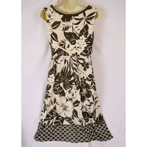Tommy Bahama Floral 100% Silk Dress S
